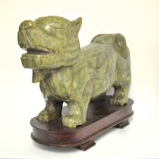 decor hand carved jade foo dogs for home accessories ideas