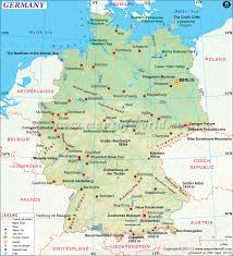 map of germany with states and capitals map of german states and cities major tourist within