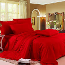 luxury bedroom ideas with red europe wedding comforter