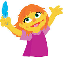 sesame street thanksgiving big bird meet julia a muppet with autism u2014 and the newest character on