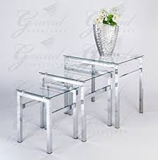 buy nest of tables glass nest of tables 3 coffee side coffee l table set living room
