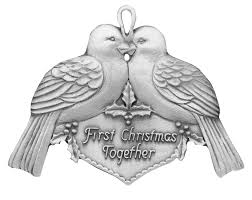 first christmas together ornament handcrafted new hampshire