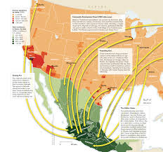 map of mexico and america opposition between the united states and america