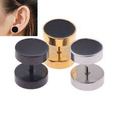 ear stud men 2 pieces men boy stainless steel barbell earrings ear stud
