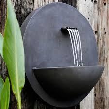 modern water feature dupont cast iron modern water feature satu bumi spa living
