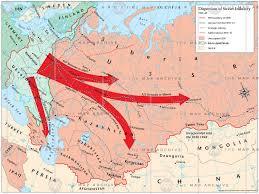 Ussr Map Dispersion Of Soviet Industry 1941 U201342