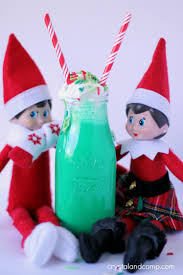 elf on the shelf ideas green colored milk