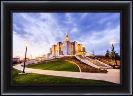 Corner Wall Art by Calgary Temple Sunset Corner Framed Fine Art Photography Lds
