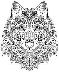 Detailed Coloring Pages Detailed Coloring Pages Abstract Wolf Head Coloringstar by Detailed Coloring Pages