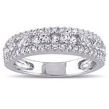 anniversary wedding band miadora sterling silver created white sapphire stackable