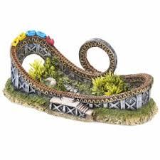 classic roller coaster aquarium ornament pets at home