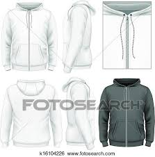 clip art of men u0027s zip hoodie design template k16104226 search