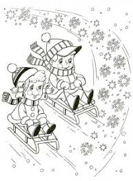 free printable winter coloring page 3 craft pinterest