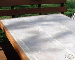 patio table with removable tiles remodelaholic how to replace a patio table top with tile