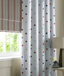 Blackout Nursery Curtains Uk by Seaside Blue Spotty M2m Curtains Free Uk Delivery Terrys Fabrics