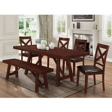dining room sets with bench kitchen dining room sets for less overstock