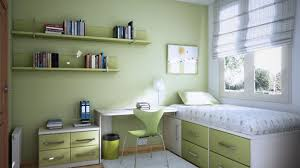 modern lime green with green wooden wall mounted shelves on green