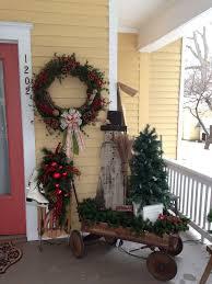 christmas 2015 front porch vintage wagon housepitality designs