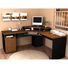 Corner Desk Perth Furniture Black Finish Metal Wood Lshape Corner Computer Desk