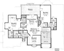 european style house plan 5 beds 5 5 baths 5300 sq ft plan 310 floor plan upper floor plan
