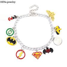 woman charm bracelet images Justice league charm bracelet the flash green lantern superman jpg