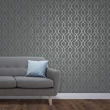 fine decor trellis blue wallpaper fd41996