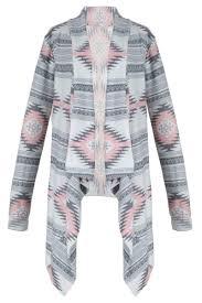Drape Cardigan Pattern Casual Geometric Knit Drape Open Front Cardigan Oasap Com