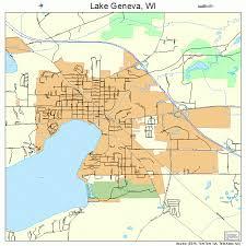 map of lake geneva wi lake geneva wisconsin map 5541450