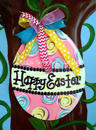 Wooden Easter Door Decorations by 313 Best Painted Wood Easter Images On Pinterest Easter Crafts