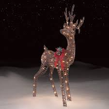 Outdoor Reindeer Decorations Roebuck U0026 Co Grapevine Standing Deer Outdoor Christmas Decor