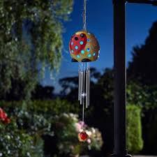 solar powered wind chime light ceramic robin wind chime light solar powered smart solar moles