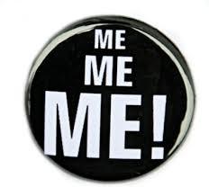Me Me Me Me - me me me button pin badge 1 inch theangryrobot on artfire
