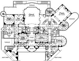 large mansion floor plans european style house plan 8 beds 6 50 baths 9787 sq ft plan 48
