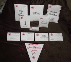 Bunting Flags Wedding Wedding Stationery Sample Pack Snowflake Design Ideal For Winter