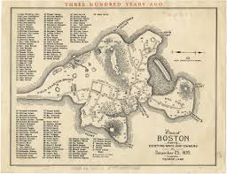 Map Of Boston by Plan Of Boston Showing Existing Ways And Owners On December 25