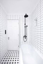 Bathrooms With Subway Tile Ideas Bathroom Attractive Black Plus White Bathroom Black Shower Head