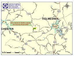 Map Of East Texas 165 Acres Recreational Land Houston County Tx Land And Farm