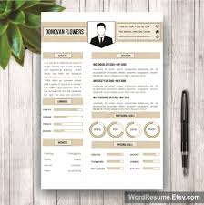 resume template u0026 cover letter u2013 u201cdonovan flowers u201d