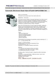automatic electronic drain valve atlas copco ewd 330 en