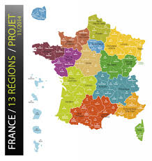 Paris France On A Map by New Map Of France Reduces Regions To 13