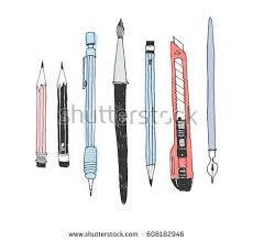 drawing tools illustrations vector download free vector art