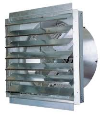 industrial wall exhaust fan with shutter maxx air if series