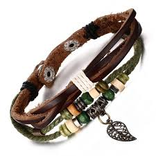 leather bracelet clasps images Ww unisex brown genuine leather bracelet with stainless steel jpg