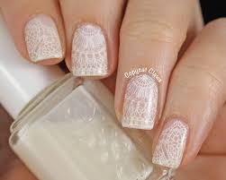 30 very cute white lace nail art design ideas