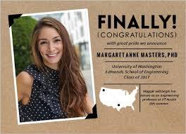 kraft polaroid graduate school graduation announcement graduate