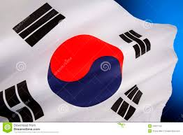 Blue White And Red Flags Flag Of South Korea Stock Image Image Of Travel Flagpole 34627159