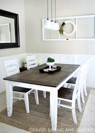 How To Build Dining Room Table Diy Dining Table And Chairs Makeovers The Budget Decorator