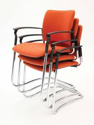 orange fabric stacked chairs claremont office interiors office