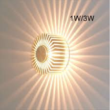 pattern wall lights 3w contemporary led wall light with scattering light design ufo