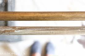 Grey Wooden Curtain Pole Diy Curtain Rods Restoration Hardware Inspired Maison De Pax